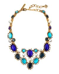 Oscar de la Renta | Blue Aqua Star Resin Bib Necklace | Lyst