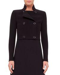Akris - Black Camille Cropped Wool Jacket - Lyst