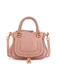 Chloé - Pink Marcie Mini Shoulder Bag - Lyst