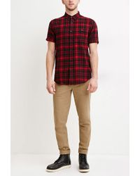 Forever 21 | Black Tartan Plaid Cotton Shirt for Men | Lyst