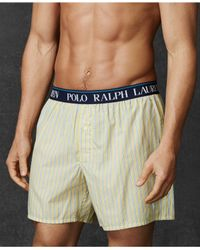 Polo Ralph Lauren | Natural Printed Woven Boxers for Men | Lyst