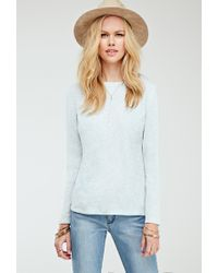 Forever 21 - Blue Slub Knit Top - Lyst