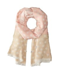 Betsey Johnson | Pink Jeweled Dots Blanket Wrap | Lyst