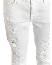 Current/Elliott - White The Fling Mid-rise Slim Boyfriend Jeans - Lyst