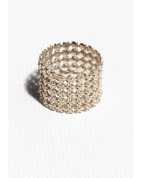 & Other Stories | Metallic Wide Open Work Ring | Lyst