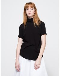 Assembly | Black Reverse T Neck | Lyst
