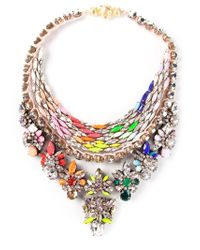 Shourouk | Multicolor 'river' Necklace | Lyst