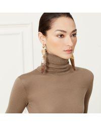 Ralph Lauren - Natural Beaded Drop Antler Earrings - Lyst