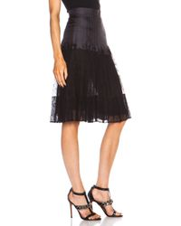 Givenchy - Black Lace Pleated Skirt - Lyst