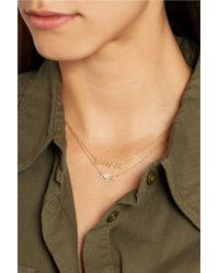 Jennifer Meyer | Metallic Love You 18-karat Gold Necklace | Lyst