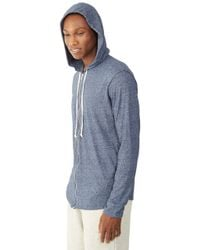Alternative Apparel | Blue Eco-mock Twist Zip Hoodie for Men | Lyst