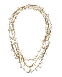 Rosantica | Metallic Chimera Extra-Long Multi-Strand Pearl Necklace | Lyst