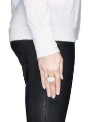 Ela Stone - Metallic 'jane' Oval Chain Stone Ring - Lyst