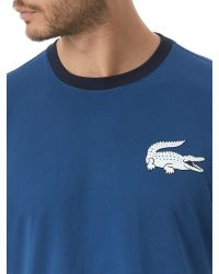 Lacoste | Blue Regular Fit Crew Neck T-shirt for Men | Lyst