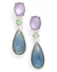 Anne Klein | Blue Drop Earrings | Lyst