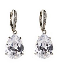 CZ by Kenneth Jay Lane - Metallic Pear-Shaped Dangle Classic Earrings - Lyst