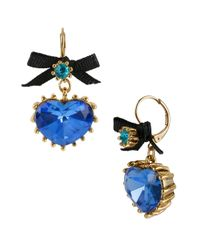 Betsey Johnson | Green Blue Lagoon Pendant Drop Earrings | Lyst
