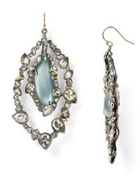 Alexis Bittar - Blue Lucite Jagged Edge Crystal Framed Orbital Wire Earrings - Lyst
