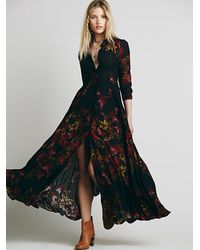 Free People | Black Womens After The Storm Maxi | Lyst