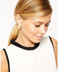 ASOS - Pink Semi Precious Shape Earrings - Lyst