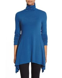 Karen Kane | Blue Handkerchief-Hem Knitted Sweater | Lyst