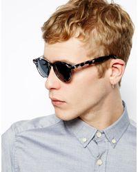 ASOS - Gray Preppy Wayfarer Sunglasses in Grey Tort for Men - Lyst