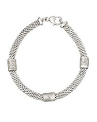 Lord & Taylor | Metallic Sterling Silver Cage Bracelet With Diamonds | Lyst