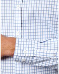 ASOS | Blue Smart Shirt In Long Sleeve With Grid Check for Men | Lyst