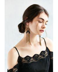 Urban Outfitters - Metallic Beaded Fringe Drop Earring - Lyst