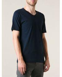 Sacai - Black Contrasting Neck Trim Chest Pocket Basic T-Shirt for Men - Lyst