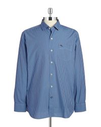 Tommy Bahama | Blue Striped Cotton Sportshirt for Men | Lyst