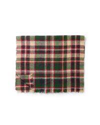 Polo Ralph Lauren - Green Lightly Frayed Plaid Scarf - Lyst