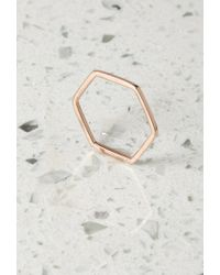 Forever 21 - Metallic By Boe Hexagon Band Ring - Lyst