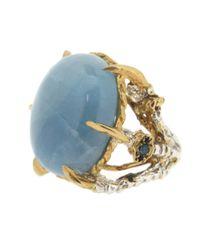 Tessa Metcalfe | Blue Bejewelled Aquamarine Deborah | Lyst
