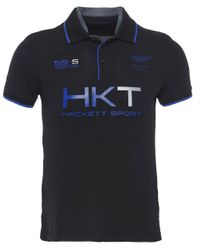 Hackett   Black Aston Martin Racing Logo Polo Shirt for Men   Lyst