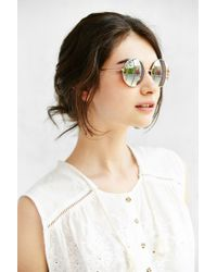 Urban Outfitters | Metallic Carousel Round Sunglasses | Lyst
