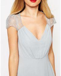 ASOS - Gray Kate Lace Maxi Dress - Lyst