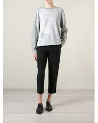 Stella McCartney | Gray Leopard-Print Cotton Sweatshirt | Lyst