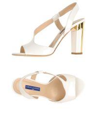 Alberto Guardiani | White Sandals | Lyst