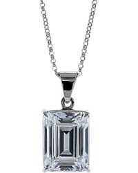 Carat* - Metallic Emerald 1.5ct Solitaire Pendant Necklace - Lyst