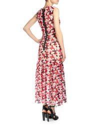Erdem - Pink Alex V-neck Guipure Lace Midi Dress - Lyst
