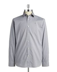 Victorinox | Gray Checkered Poplin Sportshirt for Men | Lyst