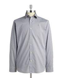 Victorinox - Gray Checkered Poplin Sportshirt for Men - Lyst