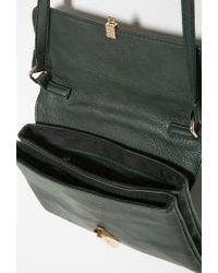 Forever 21 - Green Faux Leather Kiss-lock Crossbody - Lyst