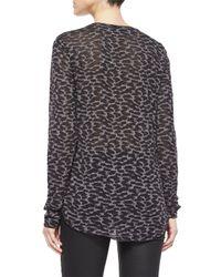 Belstaff - Gray Long-sleeve Animal-print T-shirt - Lyst