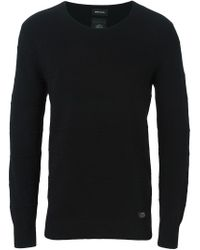 DIESEL - Black Crew Neck Sweater for Men - Lyst