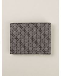 Ferragamo - Gray Gancini Print Billfold Wallet for Men - Lyst