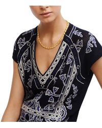 Tory Burch - Metallic Mikah Simple Necklace - Lyst