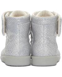 Maison Margiela - Gray Future Python-Print High-Top Sneakers for Men - Lyst