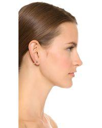 Eddie Borgo   Metallic Pave Pyramid Stud Earrings   Lyst
